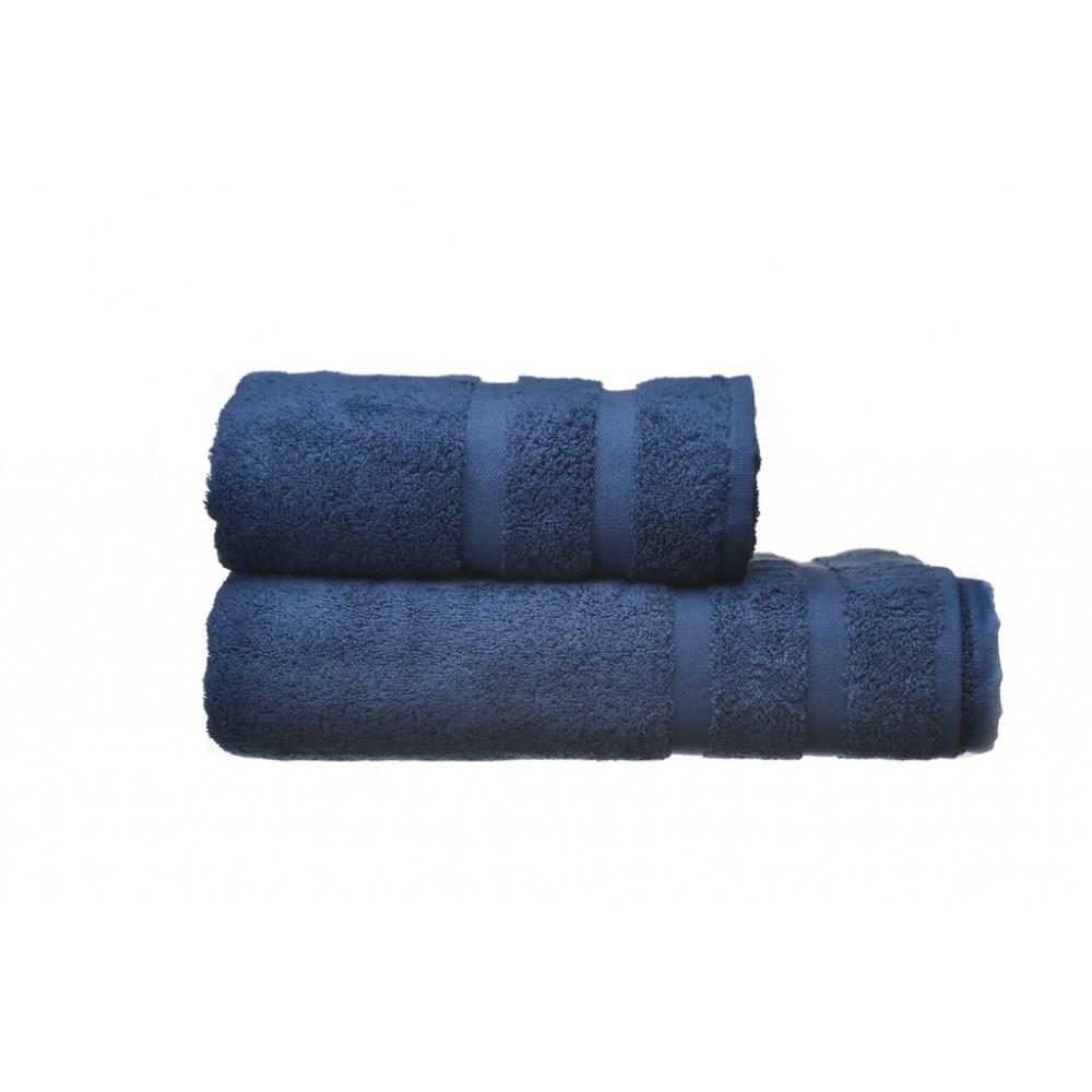 Полотенце махровое Homely Sapphire SoundSleep темно-синее 70х140 см 500 г/м2