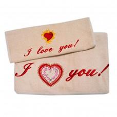 Набор махровых полотенец Украина  I love you (англ)