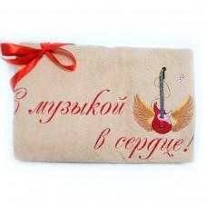 Махровое полотенце Украина C музыкой в сердце (рус)