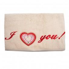 Махровое полотенце Украина I love you (англ)