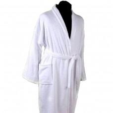 Махровый халат Nostra белый XXL
