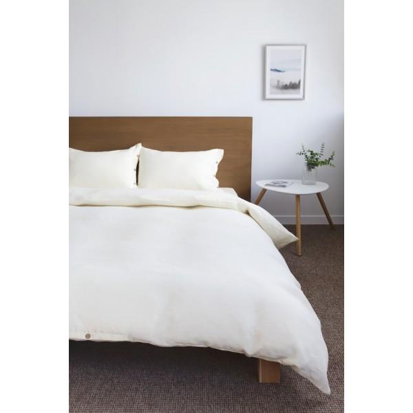 Льняное постельное белье SoundSleep Cream евро