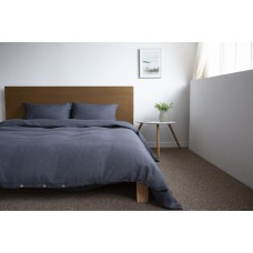 Bed linen set SoundSleep flax euro Graphite
