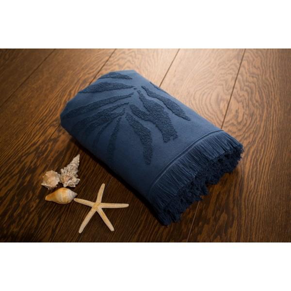 Полотенце SoundSleep пляжное жаккардовое Hawaii dark blue 100х180 см