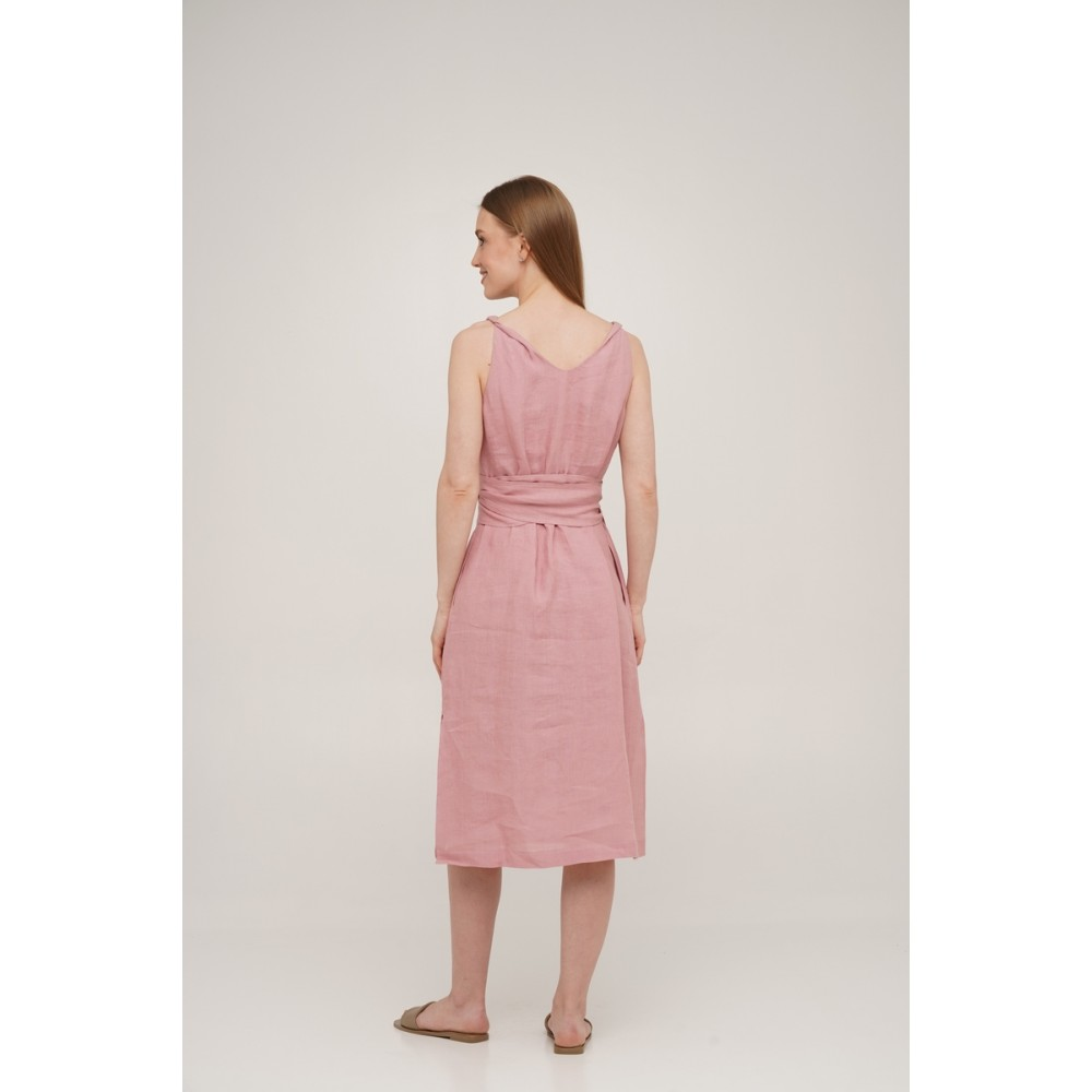 Сарафан льняной SoundSleep Linen розовый размер xxl