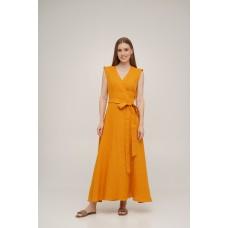 Linen wrap dress Linen SoundSleep mustard size m