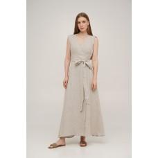 Linen wrap dress Linen SoundSleep natural size xxl