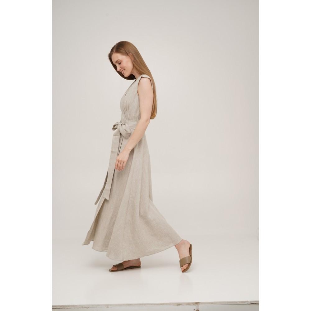 Платье на запах льняное Linen SoundSleep натуральное размер xl