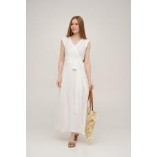 Linen wrap dress Linen SoundSleep white size m
