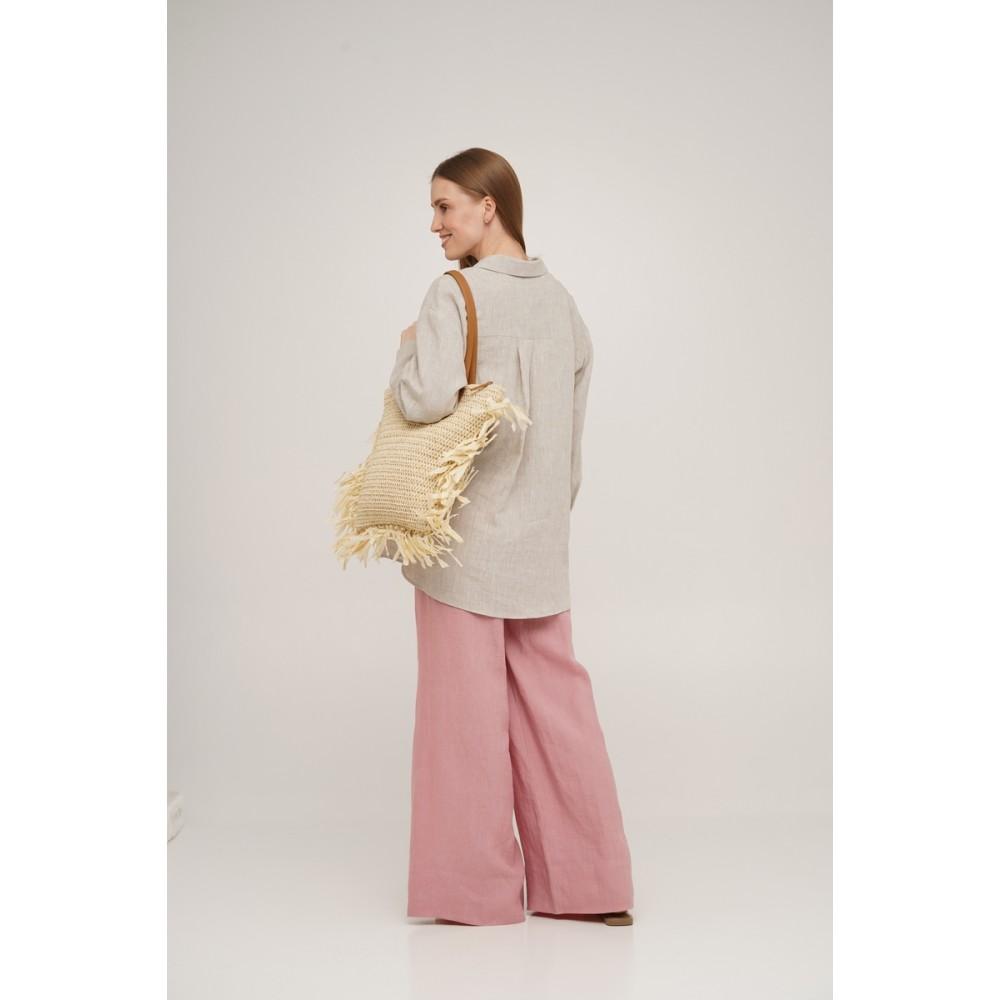 Рубашка льняная Linen SoundSleep натуральная размер L