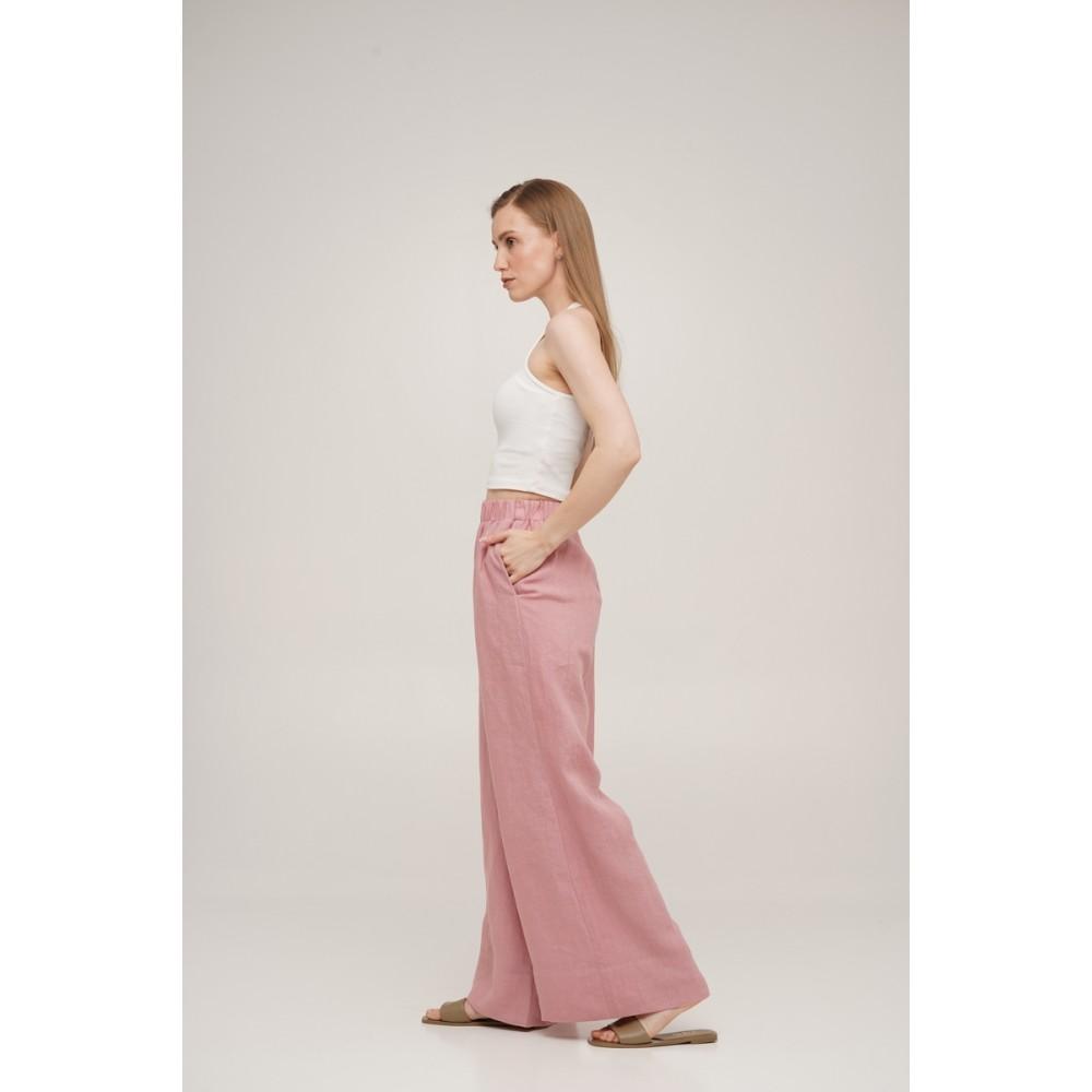 Брюки льняные Linen SoundSleep розовые размер xl