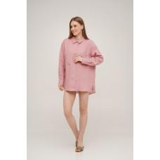 Рубашка льняная Linen SoundSleep розовая размер L