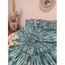 Bedding set hand-dyed Dark-green SoundSleep ranfors euro