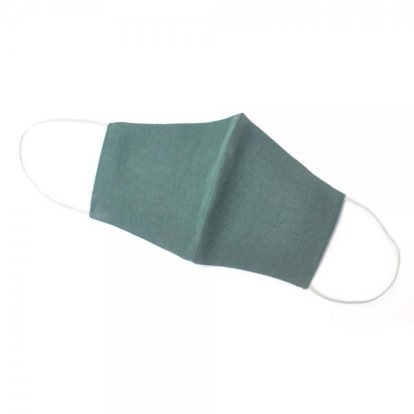 Маска защитная многоразовая льняная SoundSleep темно-зеленая