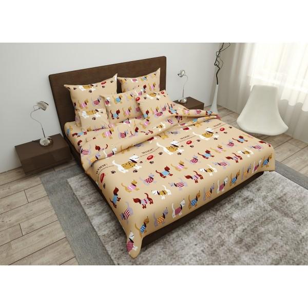 Комплект постельного белья Meow SoundSleep бязь двуспальный