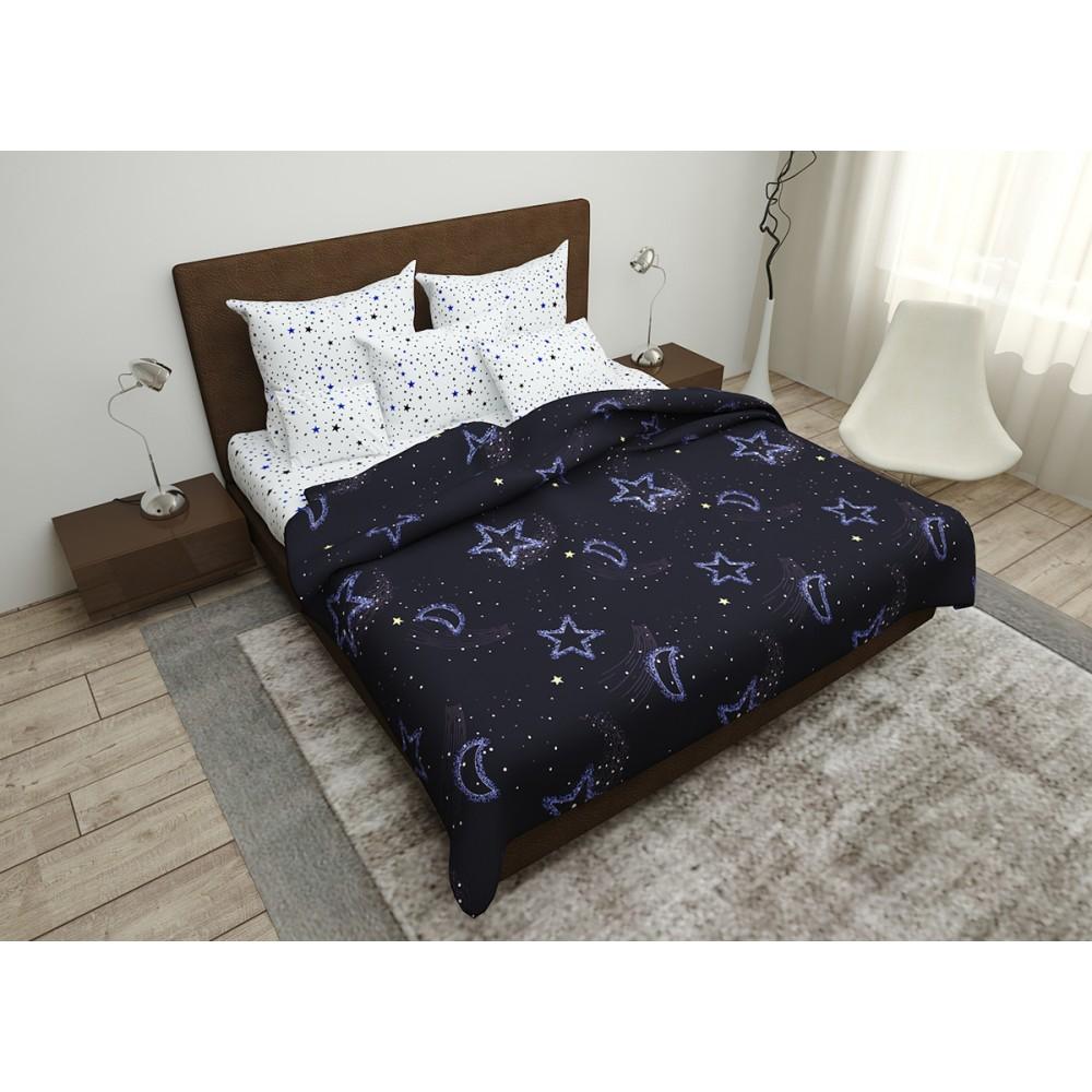 Комплект постельного белья Night Sky SoundSleep бязь євро