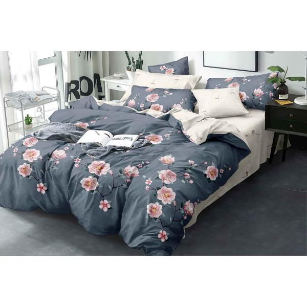 Комплект постельного белья Pink roses SoundSleep бязь двуспальный