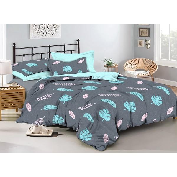 Комплект постельного белья Mint leaves SoundSleep бязь двуспальный