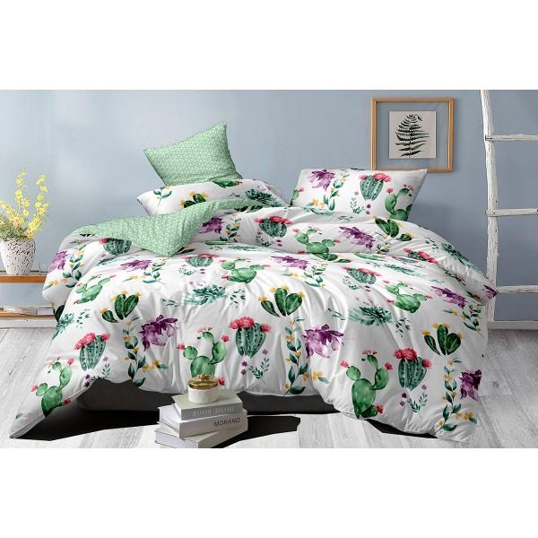 Хлопковое постельное белье Сactus blooms SoundSleep сатин евро
