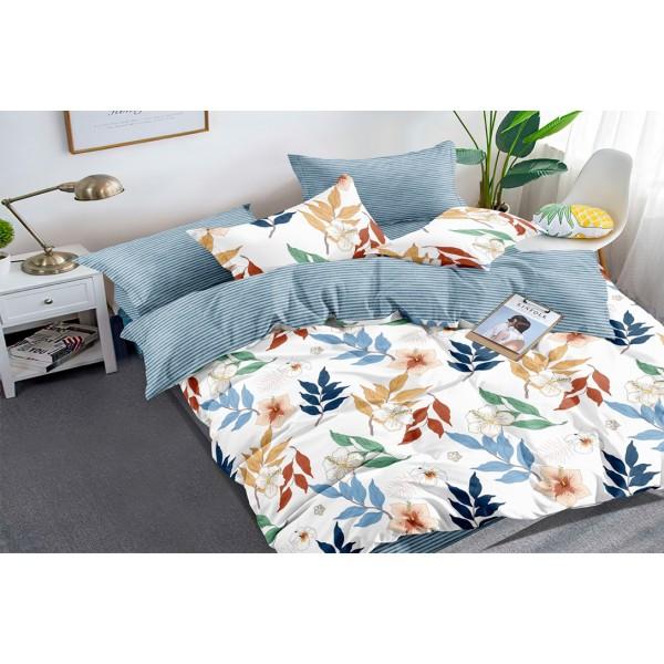 Комплект постельного белья Colorful leaves SoundSleep Полисатин полуторный