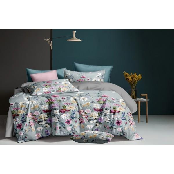 Хлопковое постельное белье Beautiful flowers SoundSleep сатин полуторный