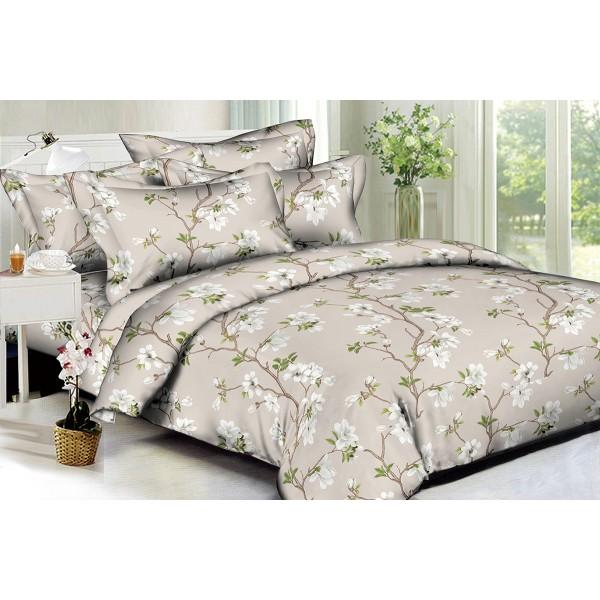 Комплект постельного белья White flowers SoundSleep Полисатин евро
