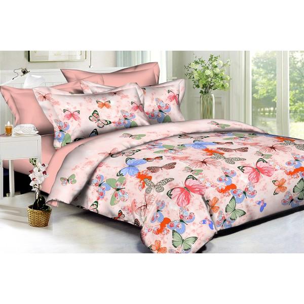 Комплект постельного белья Colorful butterflies SoundSleep Полисатин полуторный