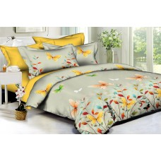 Bed linen set Yellow butterflies SoundSleep Polysatin double