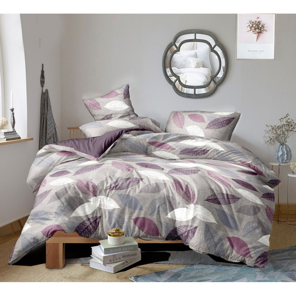 Комплект постельного белья Delicate leaves SoundSleep Сатин двуспальный