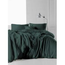 Комплект постельного белья SoundSleep Muslin Dark Green евро