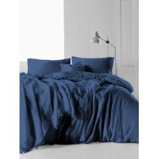 Комплект постельного белья SoundSleep Muslin Dark Blue евро