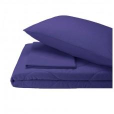 Набор хлопковый Silensa SoundSleep одеяло простынь наволочки синий двуспальный