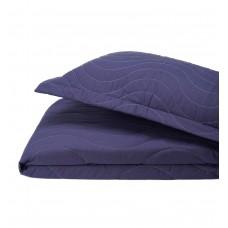 Покрывало с наволочками хлопковое Bardoc SoundSleep двухстороннее темно-синий+серый двуспальный