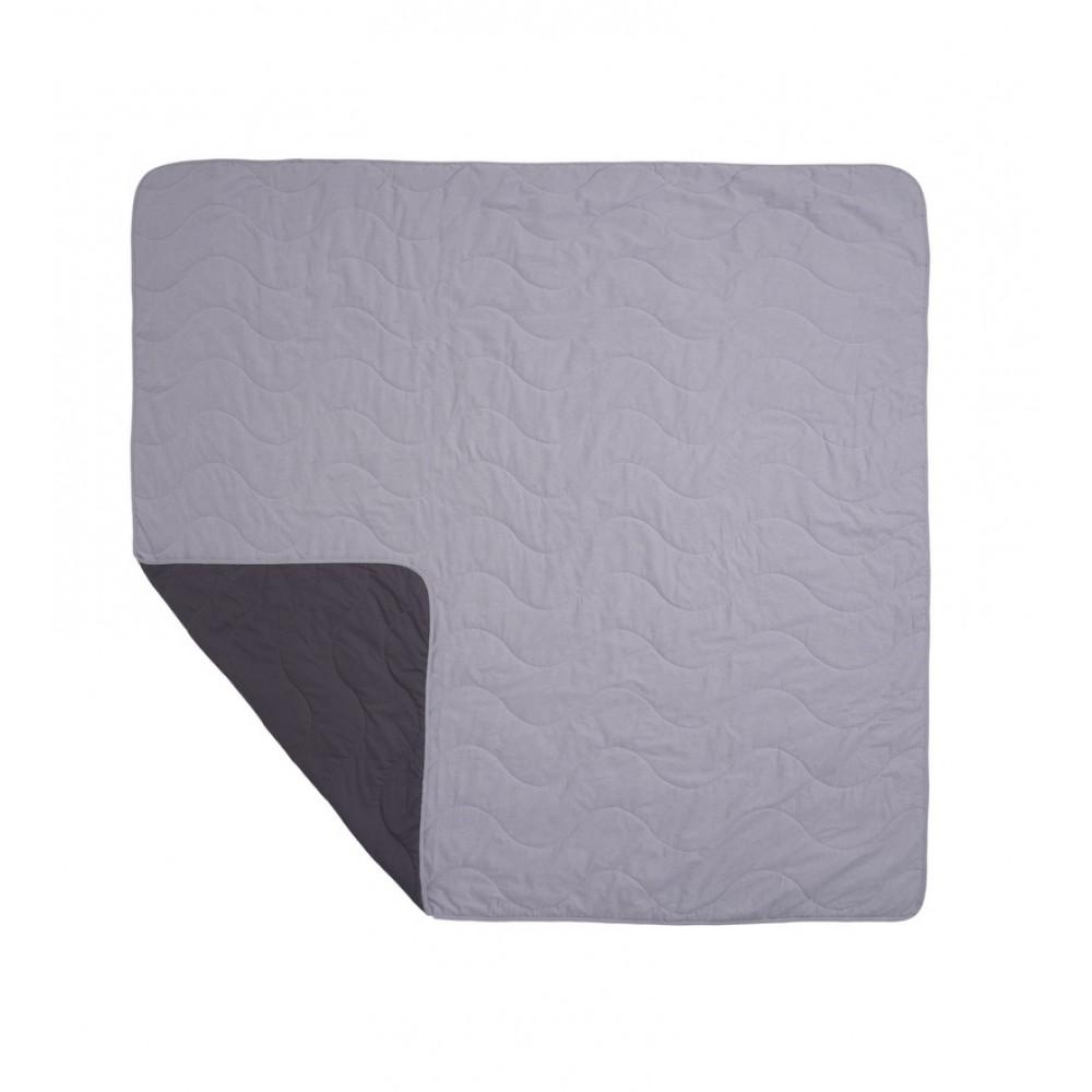 Покрывало с наволочками хлопковое Bardoc SoundSleep двухстороннее графит+серый двуспальный