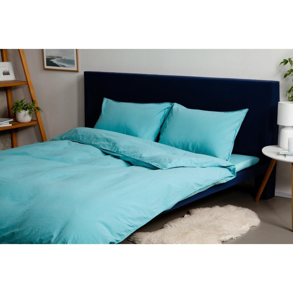 Комплект постельного белья Stonewash Purist SoundSleep Blue голубой евро