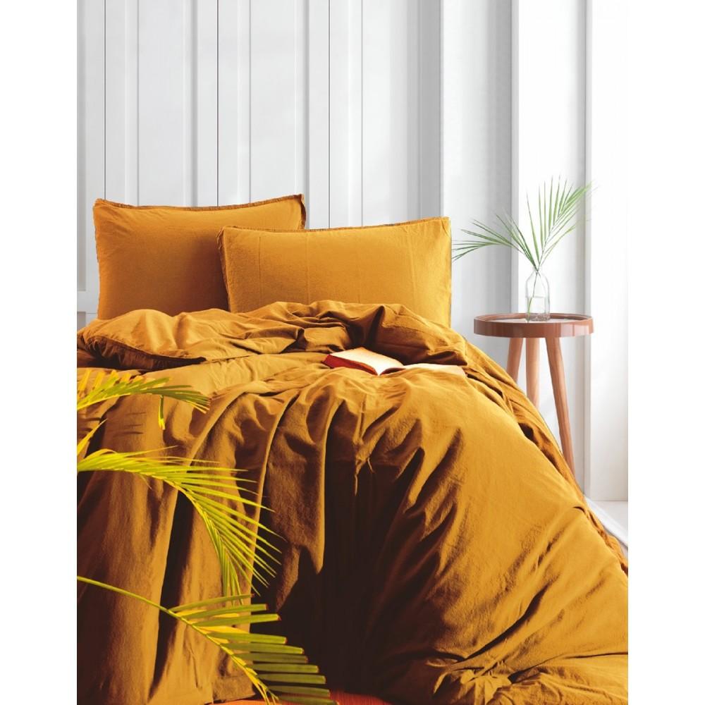 Комплект постельного белья SoundSleep Stonewash Adriatic Горчица семейный