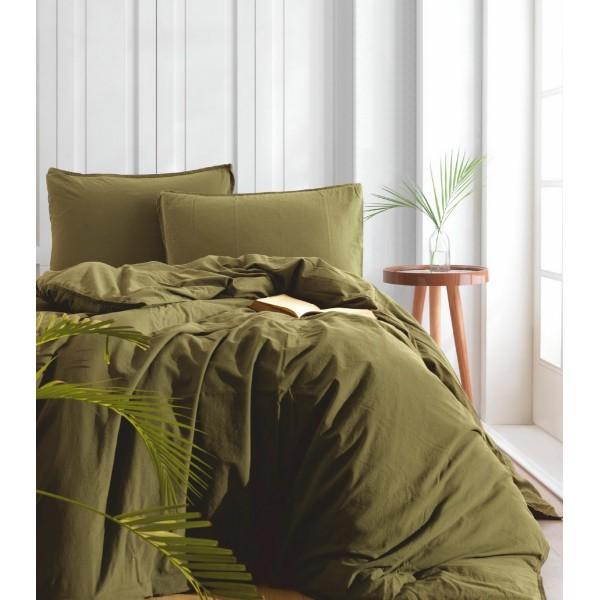 Комплект постельного белья SoundSleep Stonewash Adriatic Оливковый евро