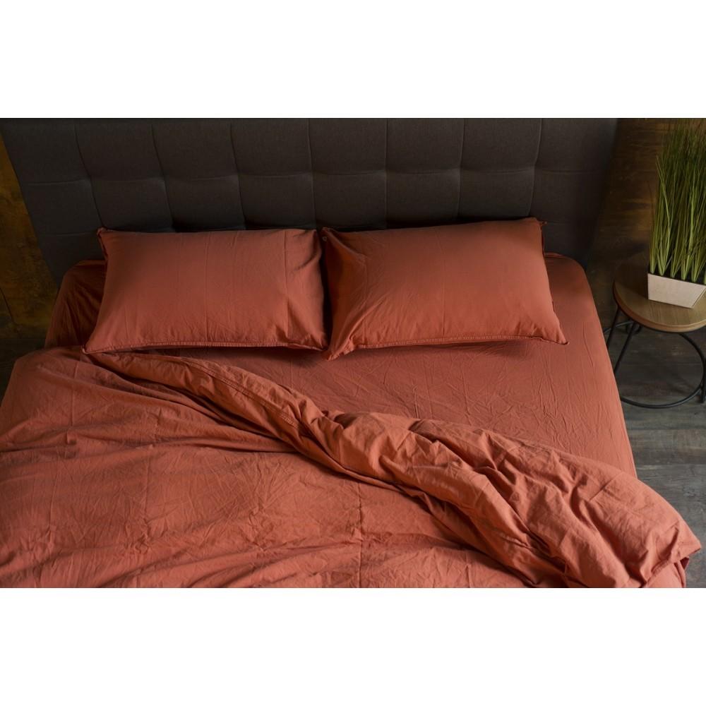 Комплект постельного белья SoundSleep Stonewash Adriatic евро brown коричневый