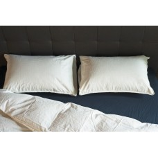 Pillowcase set Stonewash snow white SoundSleep milky 50x70 cm