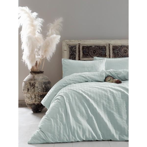 Комплект постельного белья Vogue SoundSleep сатин Mint мятный евро