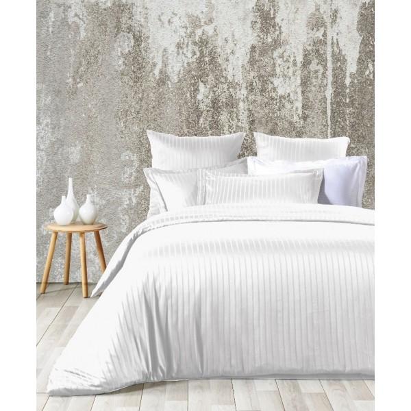 Комплект постельного белья Line White SoundSleep сатин жаккард белый евро