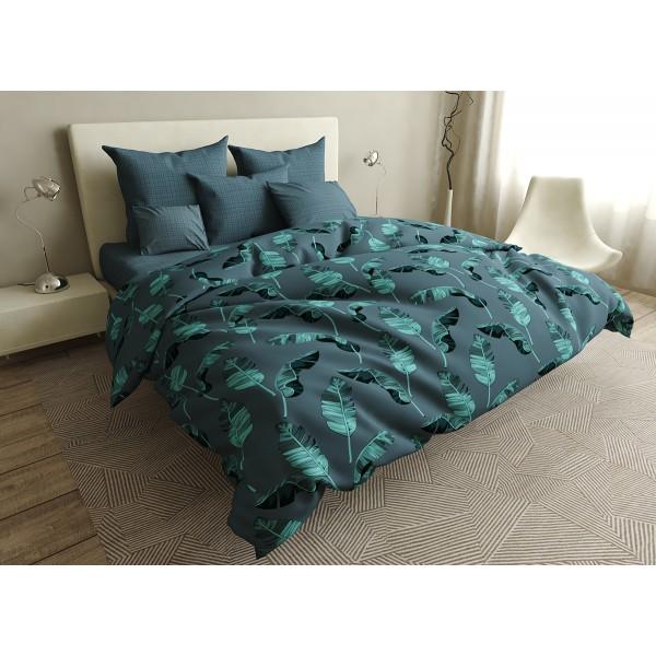Комплект постельного белья Gradient leaves SoundSleep бязь двуспальний