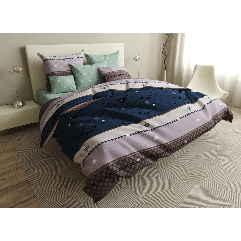 Комплект постельного белья Pandas SoundSleep бязь полуторный