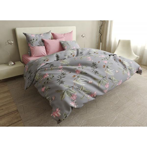 Комплект постельного белья Cells and flowers SoundSleep бязь двуспальный