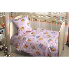 Комплект постельного белья Funny Animals SoundSleep розовый детский
