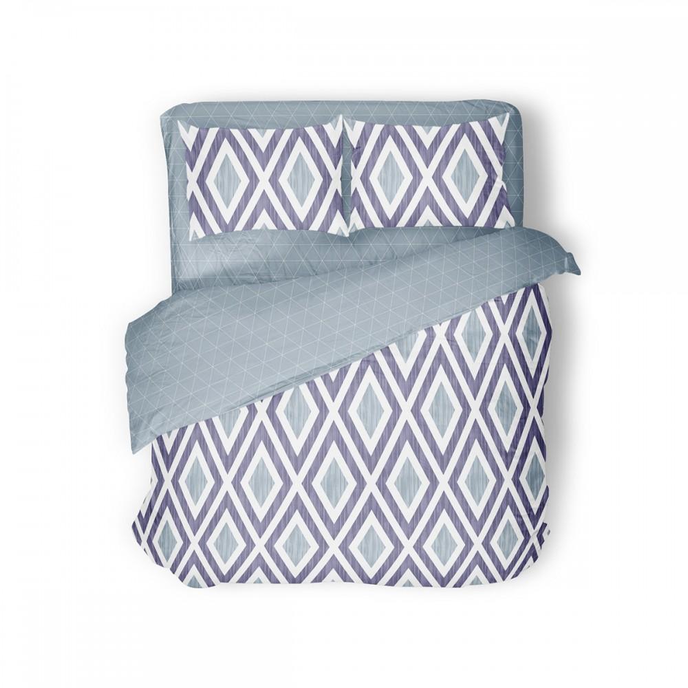 Комплект постельного белья Violet Rhombus SoundSleep семейный