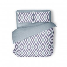 Bed linen set SoundSleep Violet Rhombus calico euro