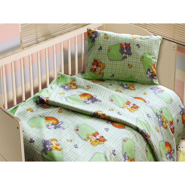 Комплект постельного белья Funny Animals SoundSleep салатовый детский