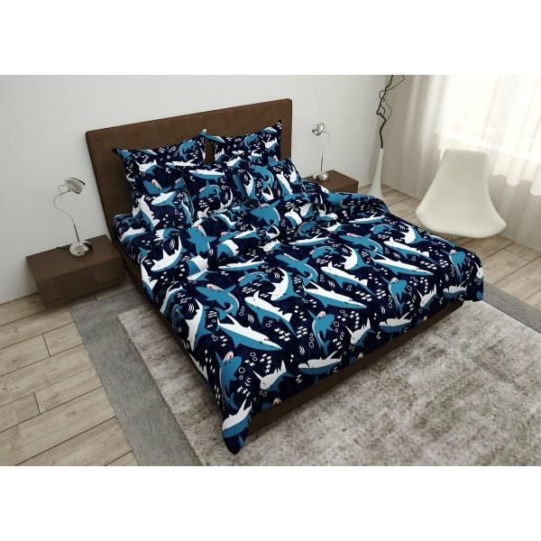 Комплект постельного белья Shark SoundSleep бязь семейный