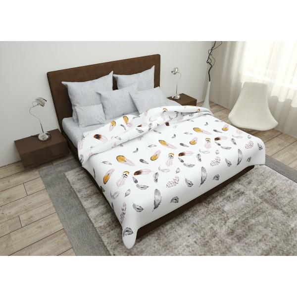 Комплект постельного белья SoundSleep Feathers бязь евро